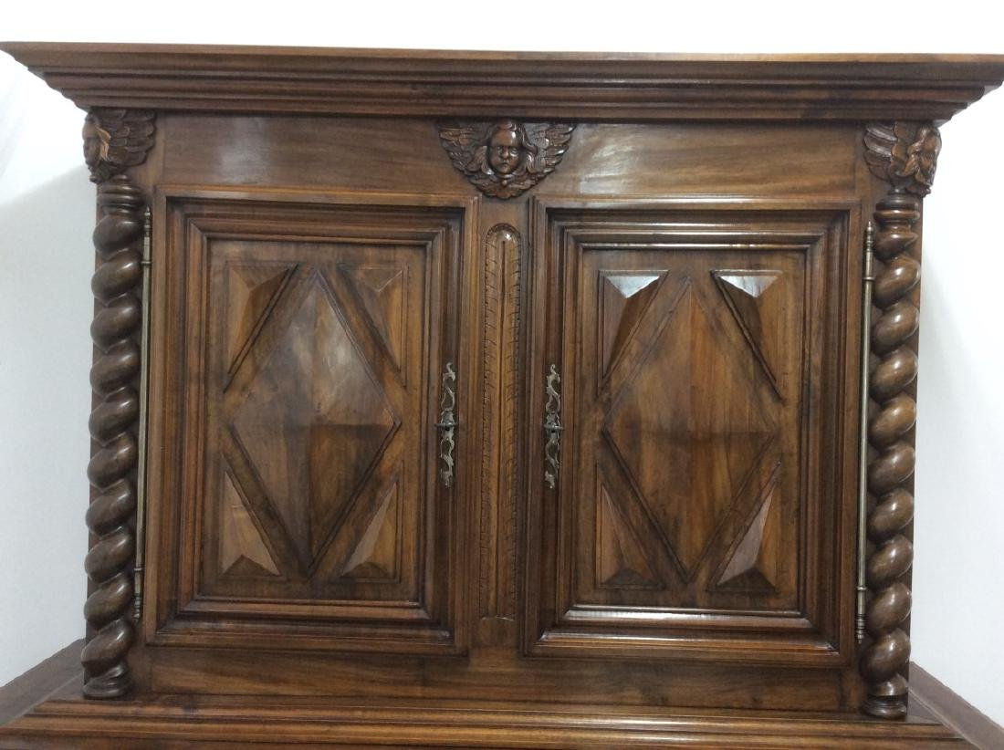 19TH C. LOUIS XIII STYLE WALNUT 2 PART CABINET - 3