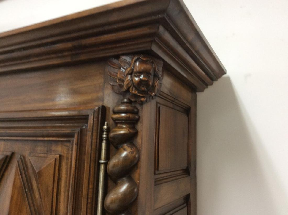 19TH C. LOUIS XIII STYLE WALNUT 2 PART CABINET - 4