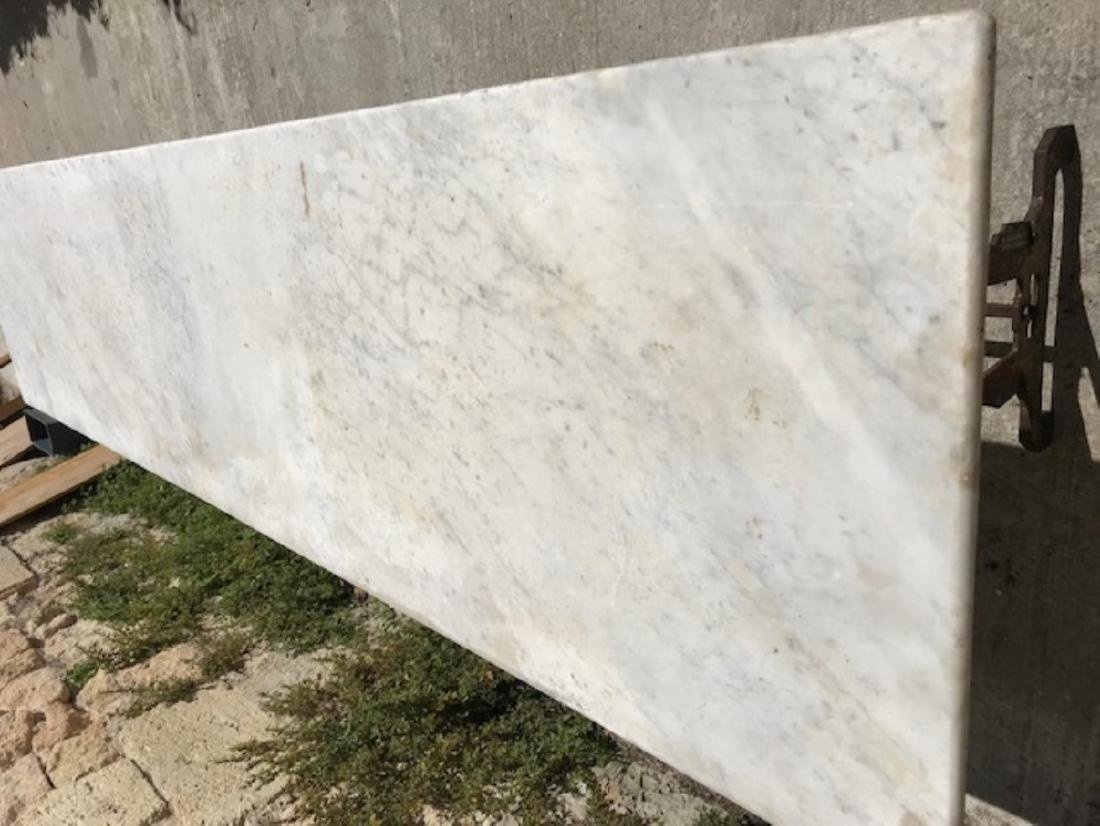 FRENCH MARBLE TOP PASTRY TABLE - 3