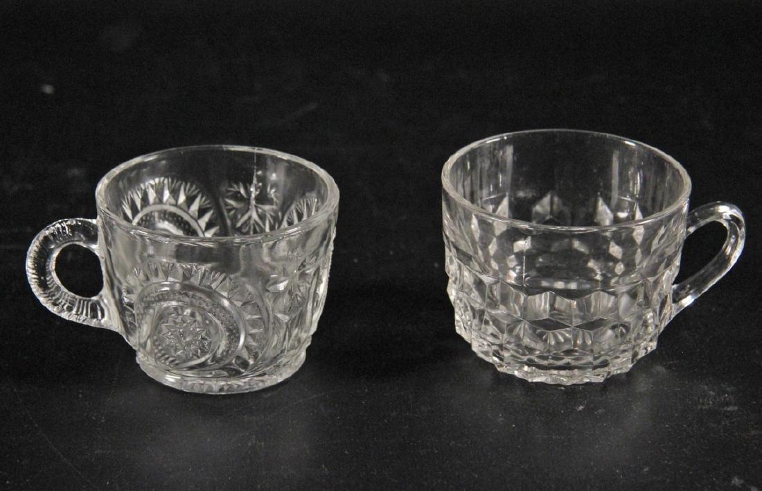 CRSTAL PUNCH BOWL W/ GLASSES AND 2 LADLES - 3