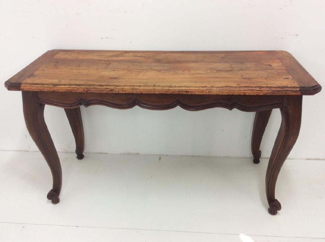 PROVINCIAL LOUIS STYLE FRUITWOOD CONSOLE TABLE