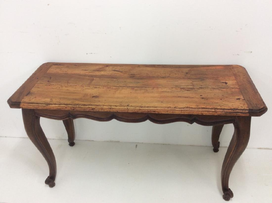PROVINCIAL LOUIS STYLE FRUITWOOD CONSOLE TABLE - 2