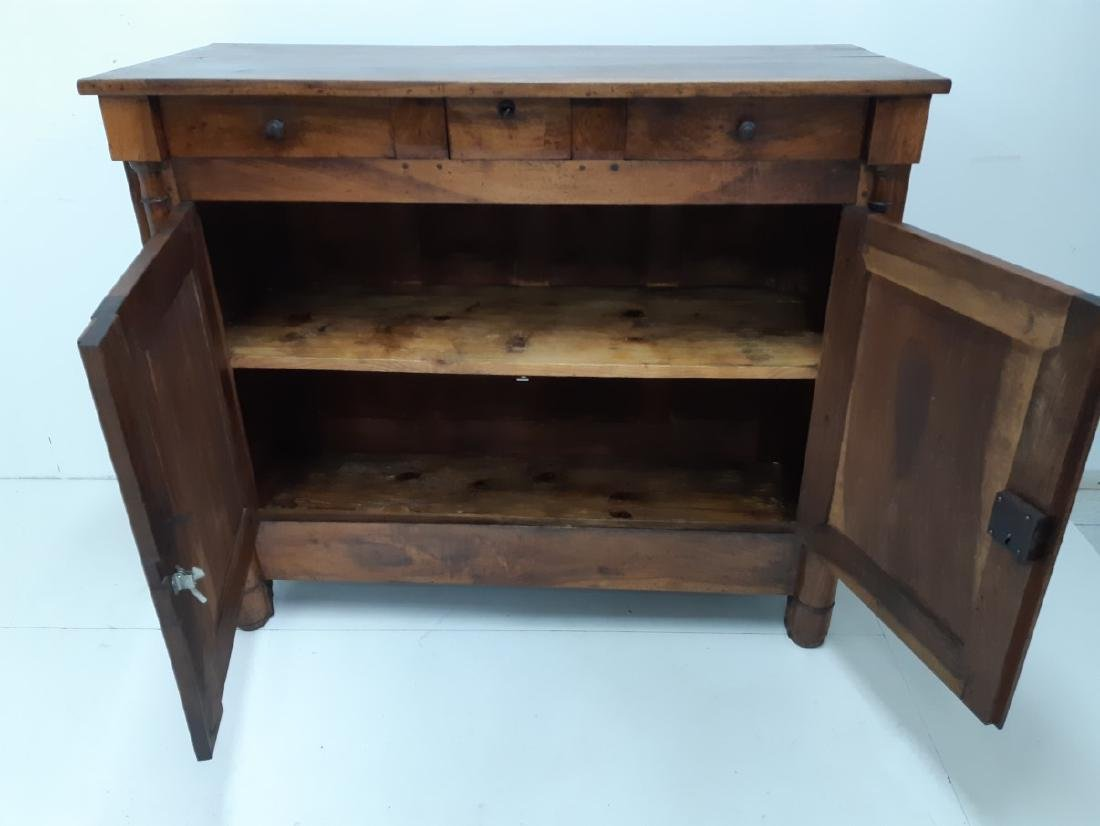 PROVINCIAL FRENCH WALNUT EMPIRE BUFFET - 4