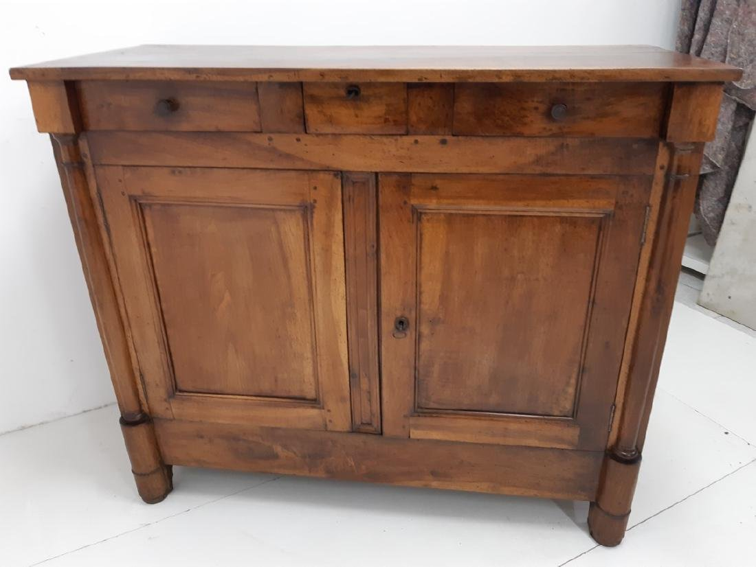 PROVINCIAL FRENCH WALNUT EMPIRE BUFFET - 5