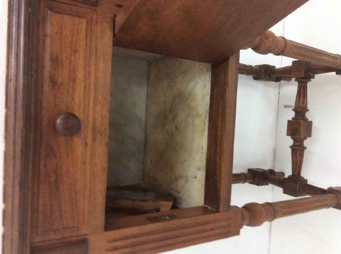 2 MISC. FRENCH WALNUT M/TOP BEDSIDE CABINETS - 4