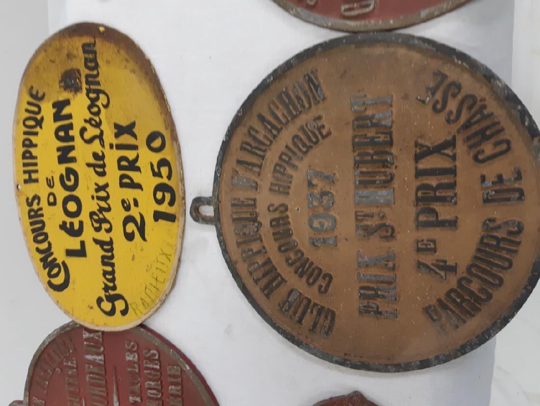 LOT OF FRENCH METAL HORSE SHOW NAME PLATES - 4