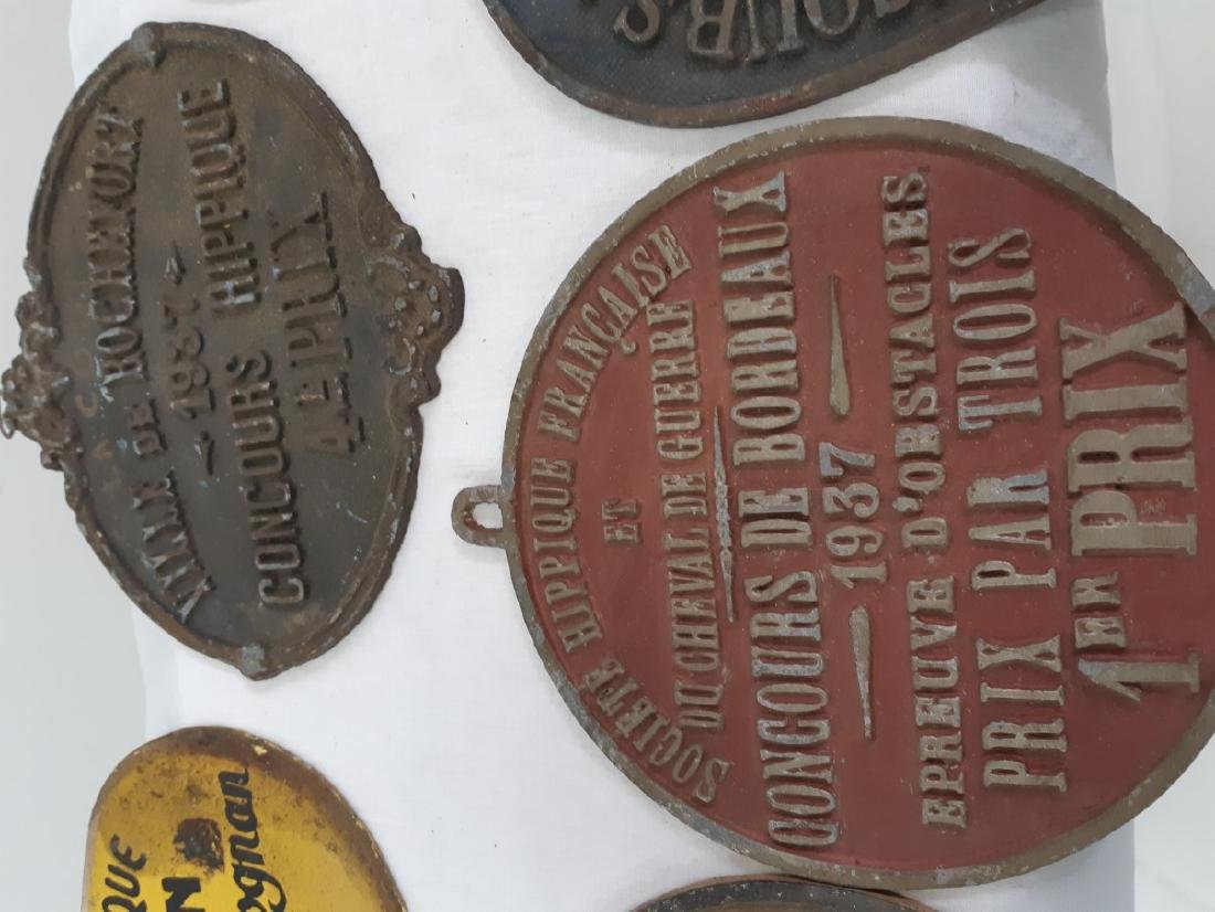 LOT OF FRENCH METAL HORSE SHOW NAME PLATES - 5