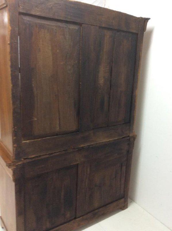 19TH C. LOUIS PHILIPPE WALNUT BOOKCASE CABINET - 8