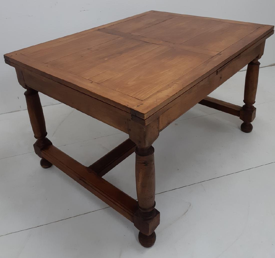 PROVINCIAL FRUITWOOD DRAW LEAF DINING TABLE