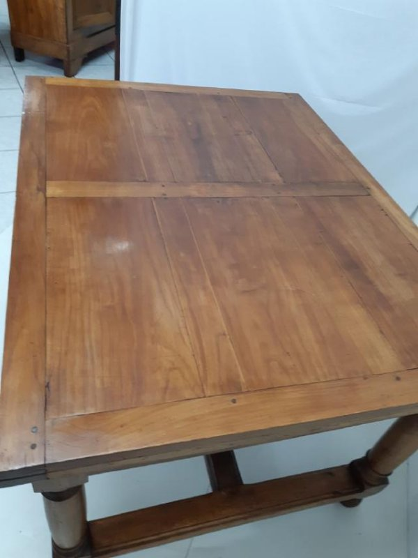 PROVINCIAL FRUITWOOD DRAW LEAF DINING TABLE - 2