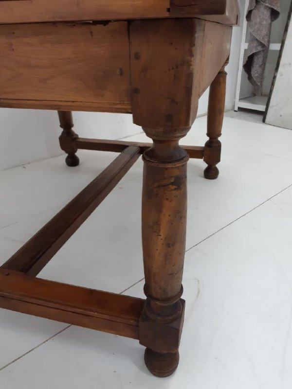 PROVINCIAL FRUITWOOD DRAW LEAF DINING TABLE - 3