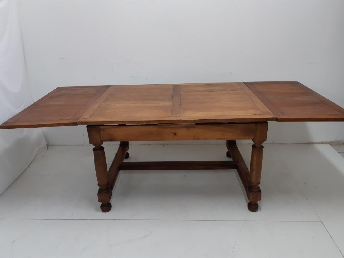 PROVINCIAL FRUITWOOD DRAW LEAF DINING TABLE - 4