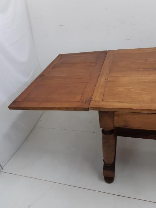 PROVINCIAL FRUITWOOD DRAW LEAF DINING TABLE - 5