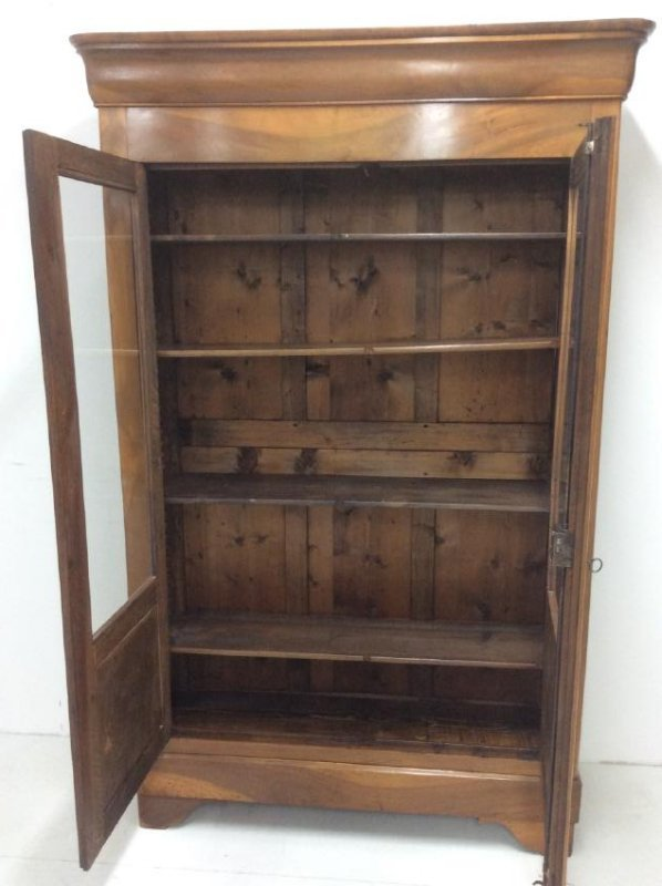 19TH C. LOUIS PHILIPPE WALNUT BIBLIOTHEQUE - 4