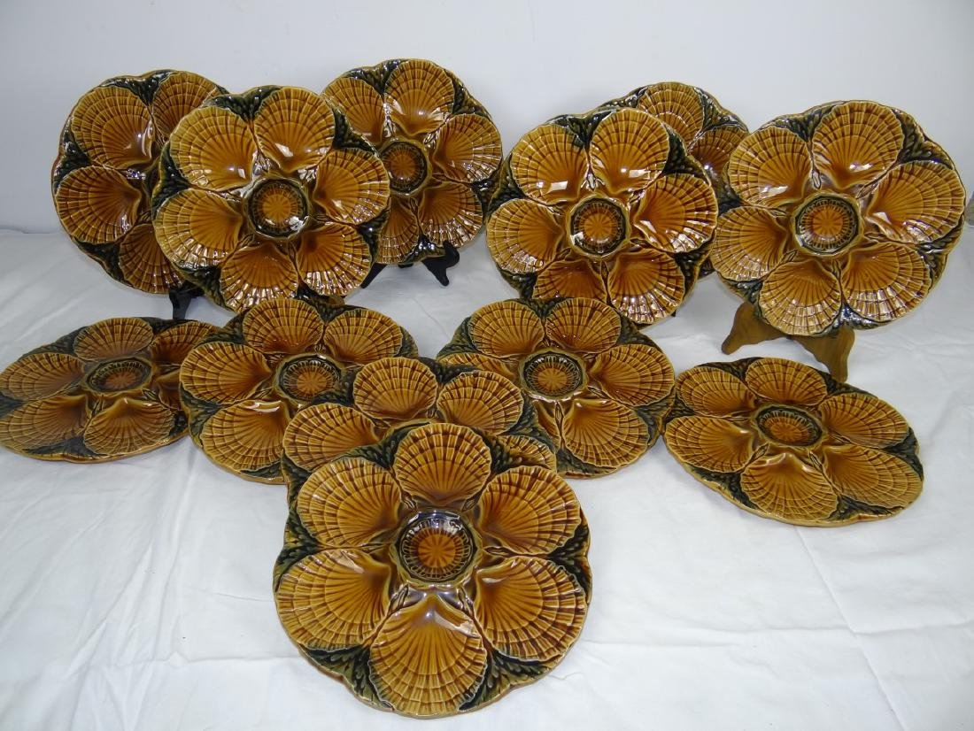 12 PC. FRENCH FAIENCE OYSTER SERVICE