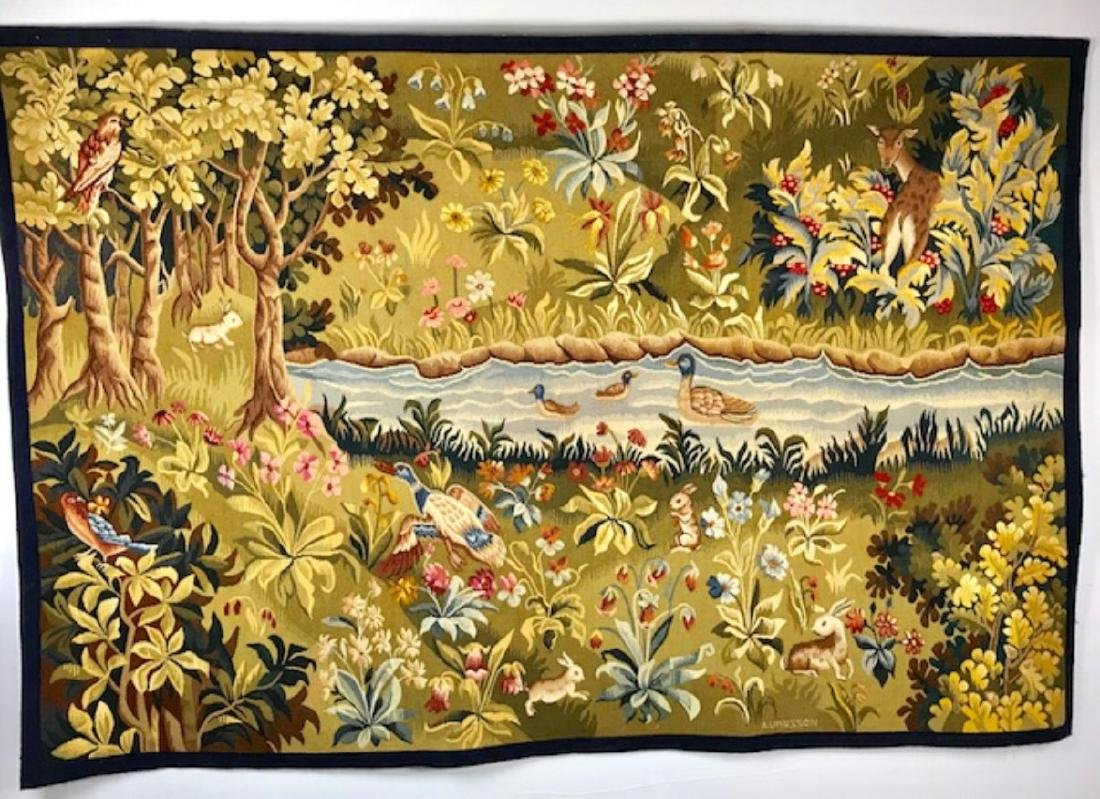 FRENCH HANDWOVEN AUBUSSON TAPESTRY