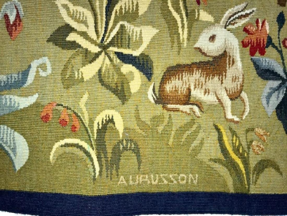 FRENCH HANDWOVEN AUBUSSON TAPESTRY - 2