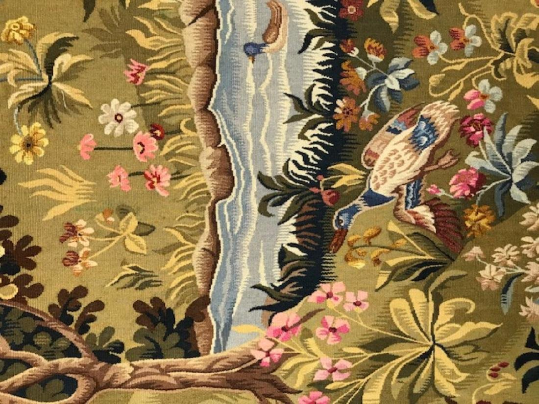 FRENCH HANDWOVEN AUBUSSON TAPESTRY - 3