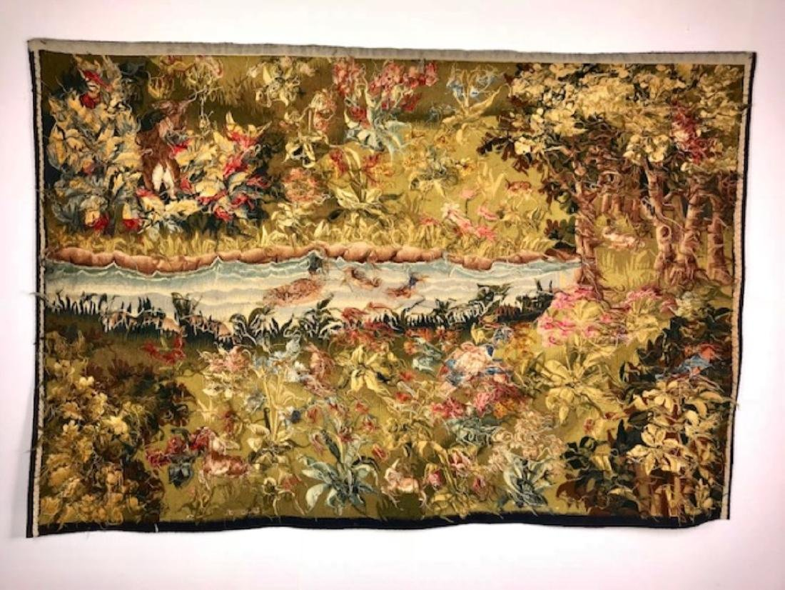 FRENCH HANDWOVEN AUBUSSON TAPESTRY - 5