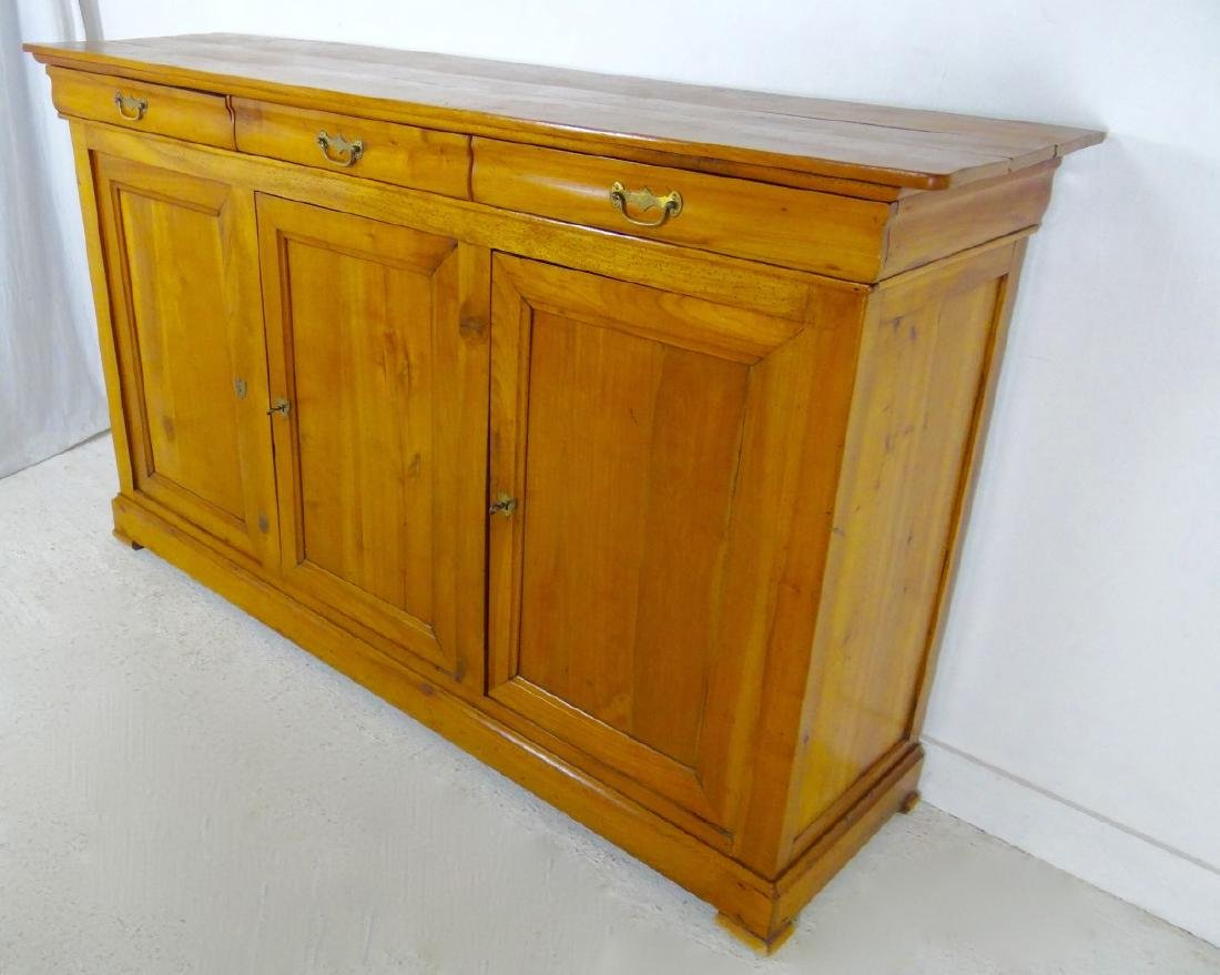 19TH C. LOUIS PHILIPPE CHERRY 3 DRAWER BUFFET