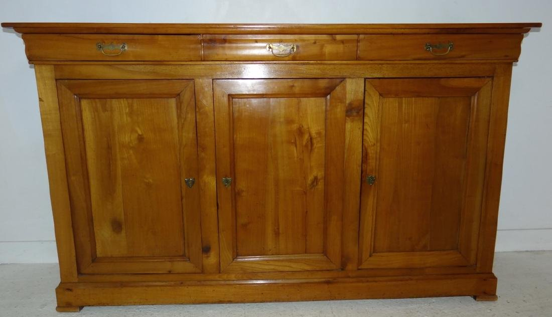19TH C. LOUIS PHILIPPE CHERRY 3 DRAWER BUFFET - 2