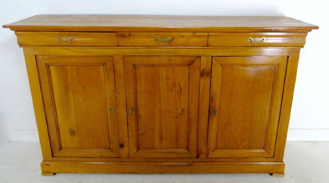 19TH C. LOUIS PHILIPPE CHERRY 3 DRAWER BUFFET - 3