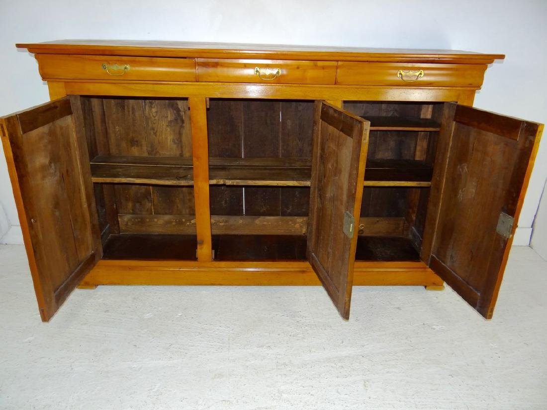 19TH C. LOUIS PHILIPPE CHERRY 3 DRAWER BUFFET - 4
