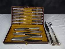 20 PC. FRENCH SILVER PLATED CHEESE CUTLERY SET