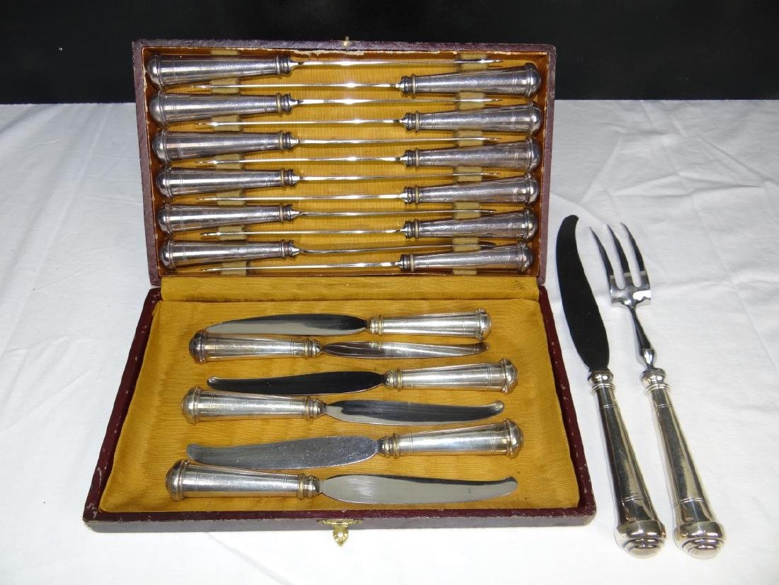 20 PC. FRENCH SILVER PLATED CHEESE CUTLERY SET - 3