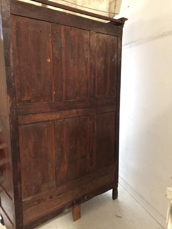 19TH C. LOUIS XV STYLE WALNUT ARMOIRE - 7