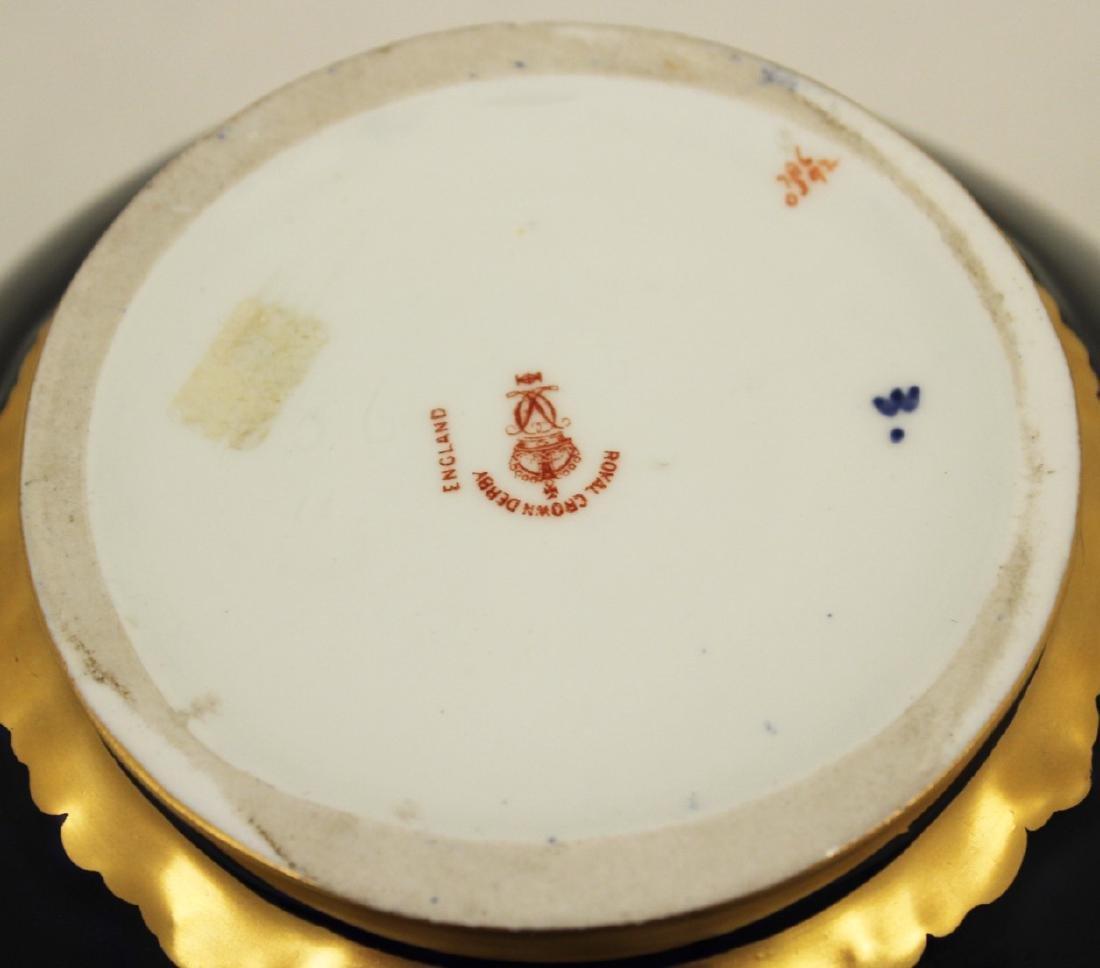 ROYAL CROWN DERBY COBALT BLUE CAPPED JAR - 4