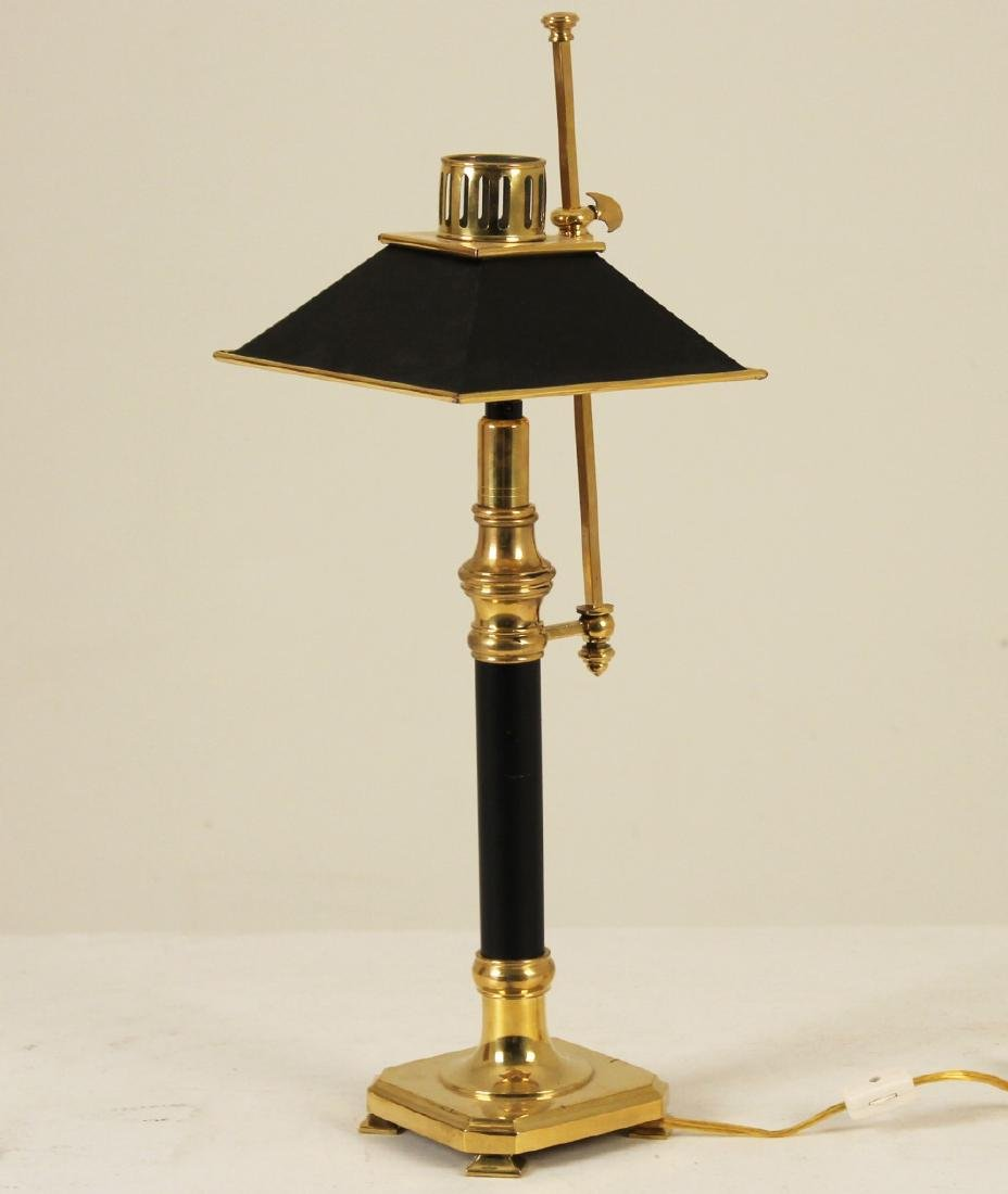 CHAPMAN STYLE SOLID BRASS CANDLESTICK LAMP