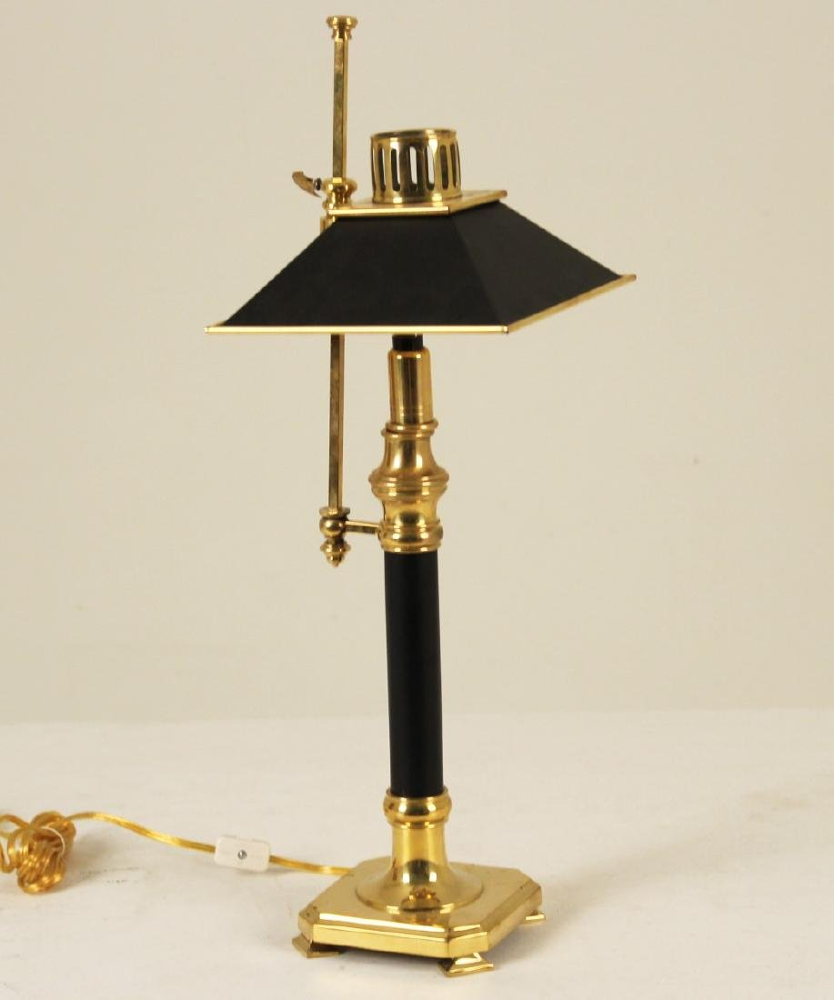 CHAPMAN STYLE SOLID BRASS CANDLESTICK LAMP - 2