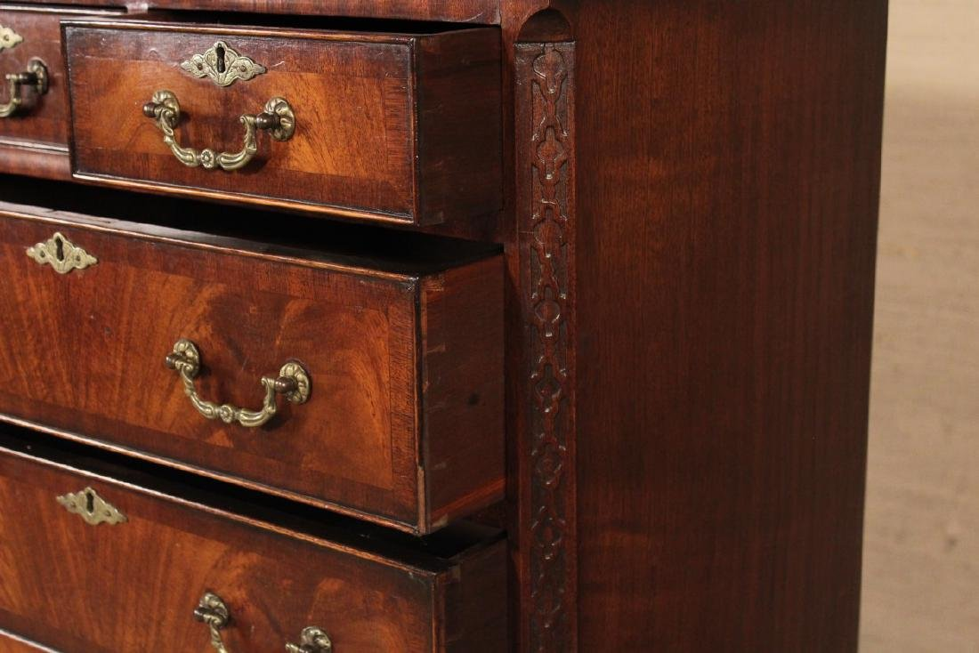 ENGLISH MAHOGANY YOUTH'S CHEST ON CHEST - 3