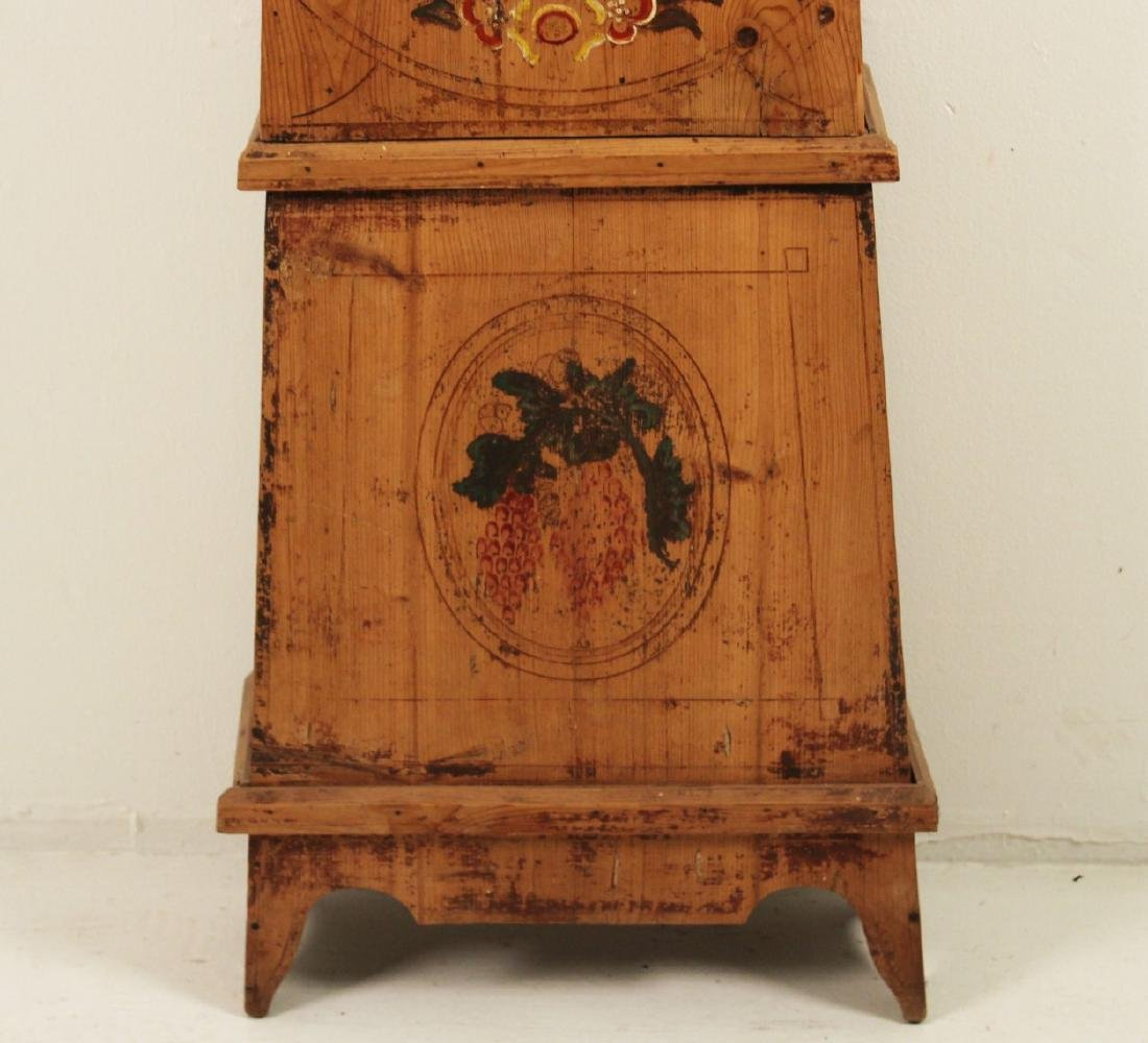 FRENCH PINE MORBIER GRANDFATHER CLOCK - 4