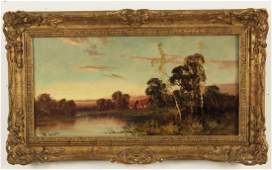LEWIS, 19TH C. O/C ENGLISH L/SCAPE PAINTING