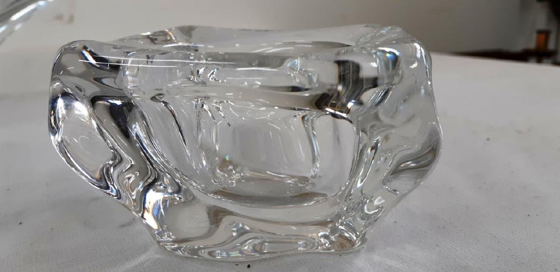 3 PC. MISC LOT OF SIGNED DAUM FRENCH CRYSTAL - 3