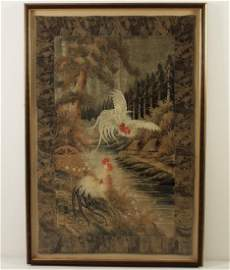 IMPRESSIVE EARLY JAPANESE WOVEN TAPESTRY