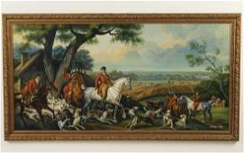 CHONG LEE LARGE OC ENGLISH HUNT SCENE PAINTING