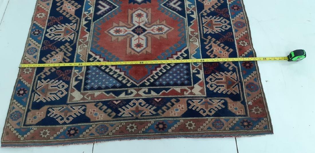 "ORIENTAL RUG 6'4"" X 3'11"" PERSIAN TRIBAL - 4"