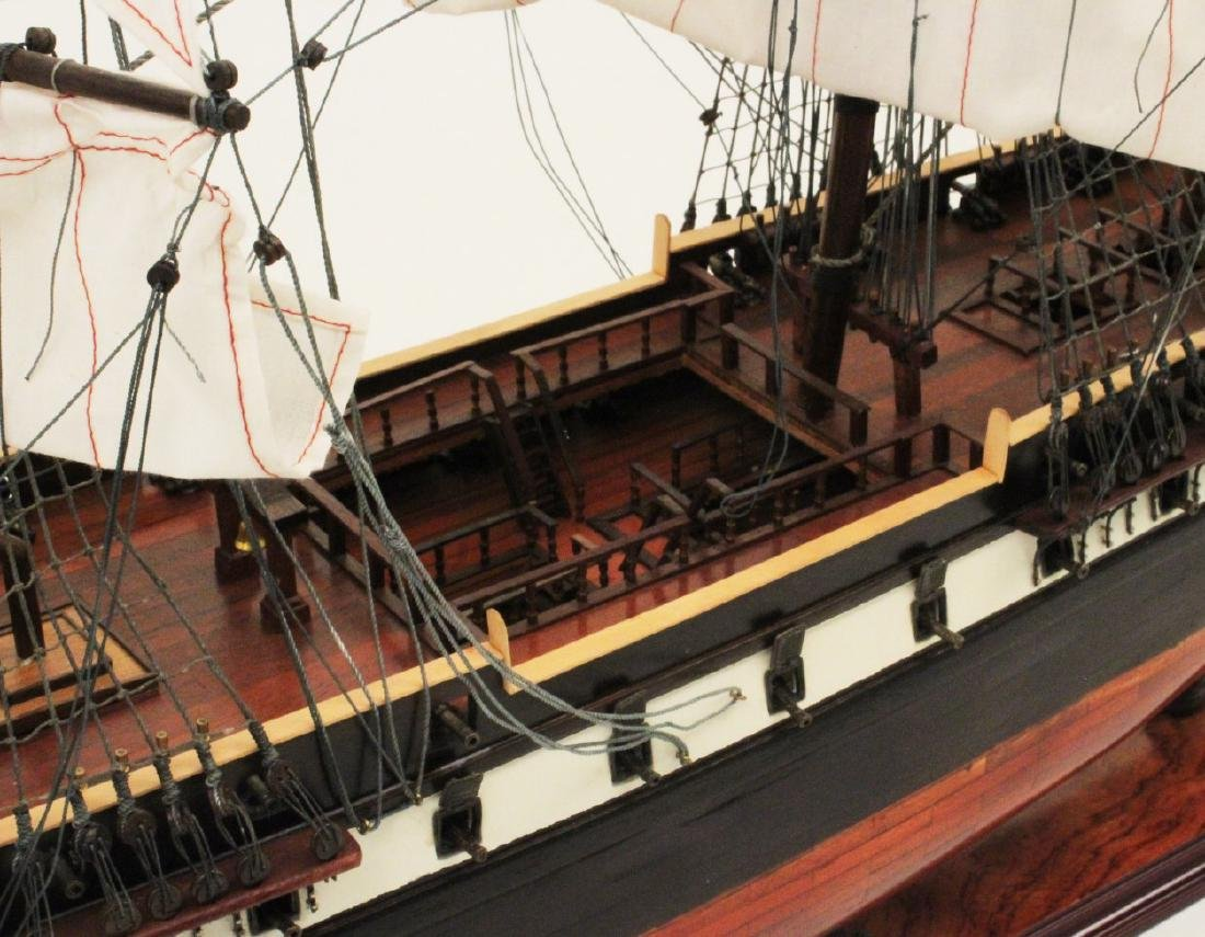 WOODEN SHIP MODEL OF U.S. CONSTELLATION - 3