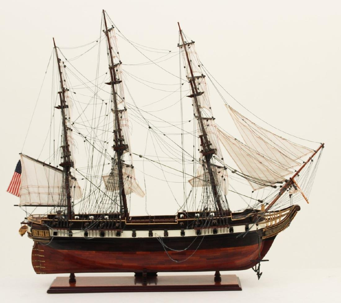 WOODEN SHIP MODEL OF U.S. CONSTELLATION - 4