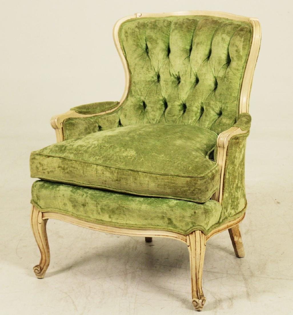 2 PC. LOT;  LOUIS XV STYLE SOFA AND UPHOLSTERED CHAIR - 3