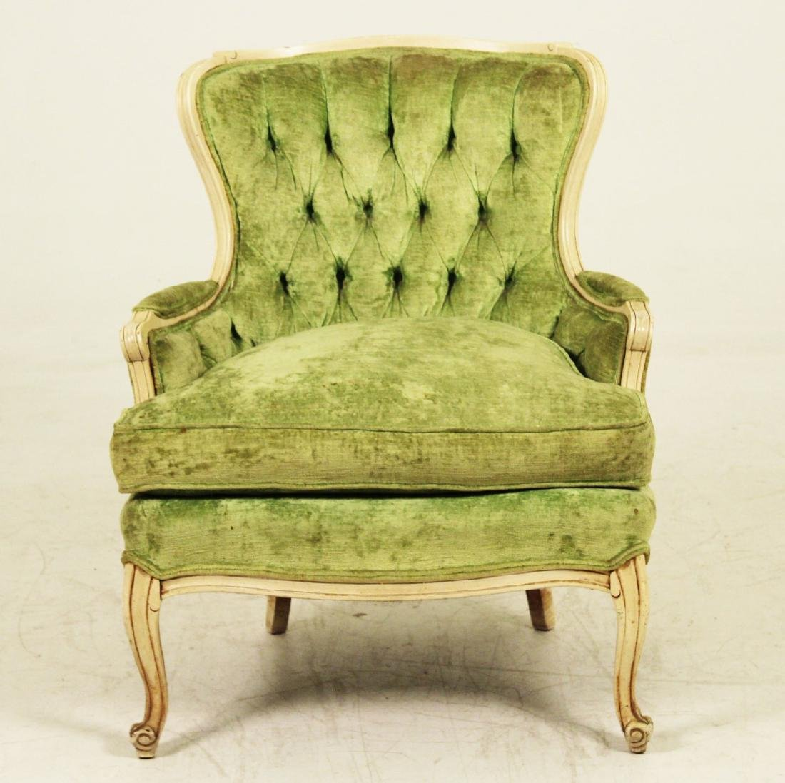 2 PC. LOT;  LOUIS XV STYLE SOFA AND UPHOLSTERED CHAIR - 4