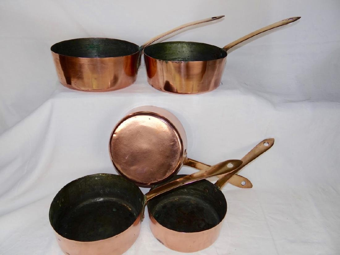 SET OF 5 COPPER CULINARY PANS - 2