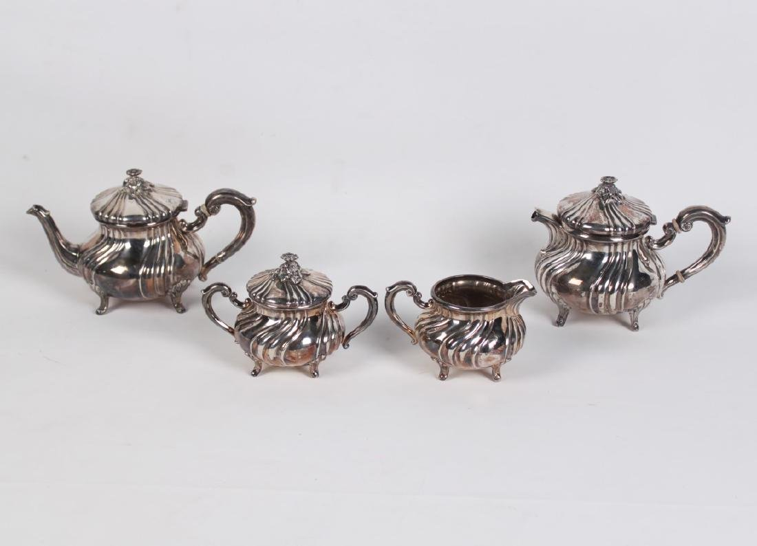 97 TOW; 5 PC. CONTINENTAL STERLING SILVER TEA SERVICE - 2