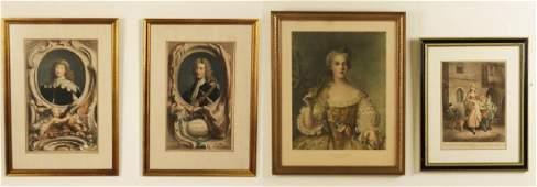 GROUP OF 4 FRAMED EUROPEAN ARTWORKS