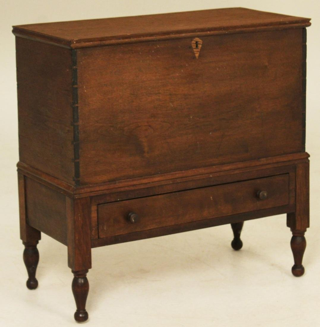 EARLY AMERICAN BLACK WALNUT SUGAR CHEST