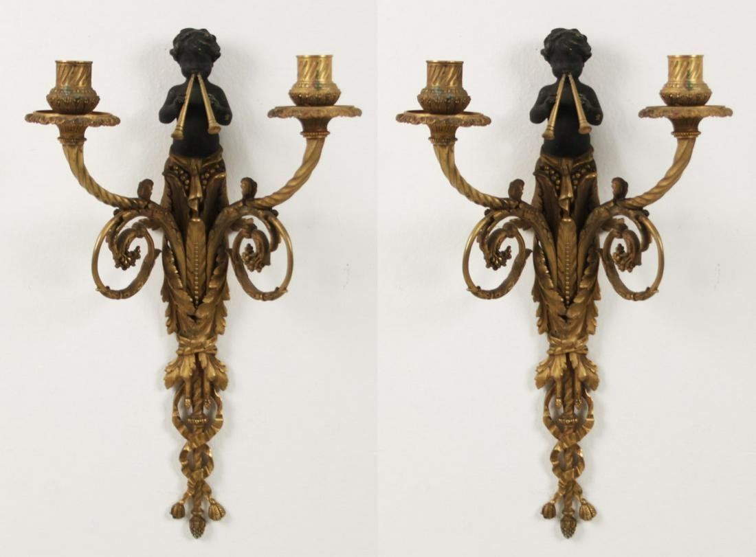 PR. OF DORE BRONZE SCONCES