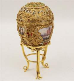 "FABERGE ""PETER THE GREAT"" EGG ON STAND"